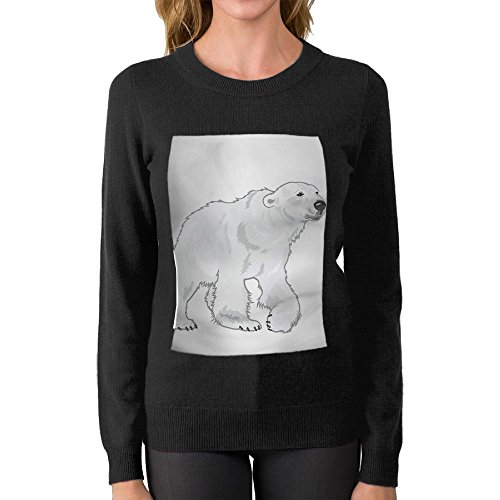 Price comparison product image LOOAVA Women's Polar Bear Printed Knit Pullover Sweaters Crew Neck Long Sleeve Sweatshirts