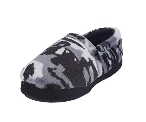 Little Kids/Toddler Flannel Suede Slippers for Boys - Casual Pile Lined Indoor Outdoor Rubber Shoes