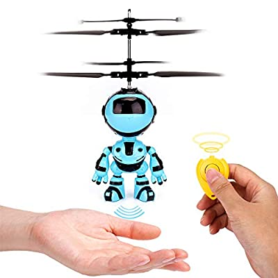 EsOfficce RC Helicopter Flying Robot, Remote Control Helicopter Toy, Rechargeable Induction Drone, Indoor Outdoor Games for Boys and Girls 10 Age+