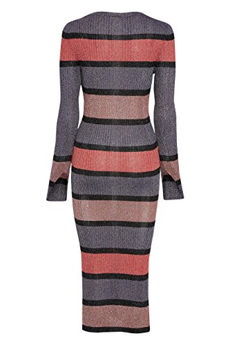 Geripptes Marine Koralle Kleid Damen mit next Streifen a7w6q5nXxp