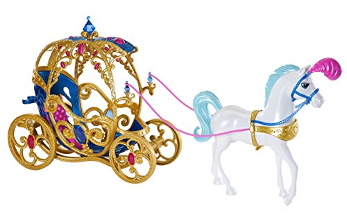 41iASi2Pj6L - Mattel Disney Princess Cinderella Horse and Carriage(Discontinued by manufacturer)