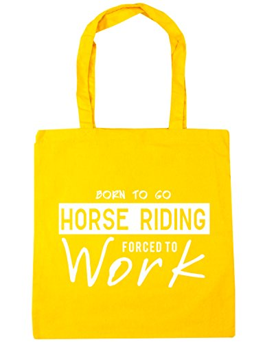 Born litres Yellow Bag Beach Go to 10 Work Riding Horse to Forced HippoWarehouse x38cm 42cm Gym Tote Shopping Fqaxdna