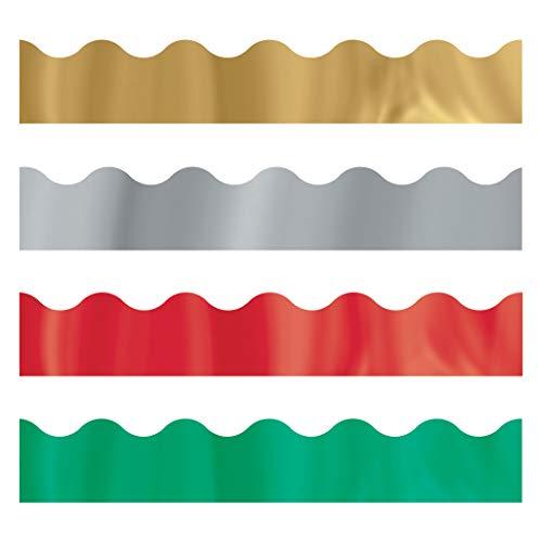 TREND enterprises, Inc. T-92926 Metallic Jewels Terrific Trimmers, Variety Pack, 130'