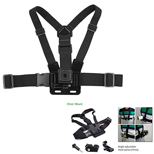 Kit Accessories Bike Chest Strap Clip Monopod Backpack for Action Camera Liquid Image Ego 727 ()