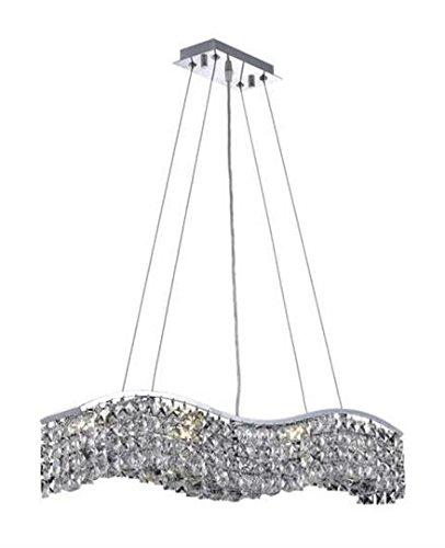 Dakota Chrome Traditional 6-Light Hanging Chandelier Swarovski Spectra Crystal in Crystal (Clear)-1735D30C-SA--5