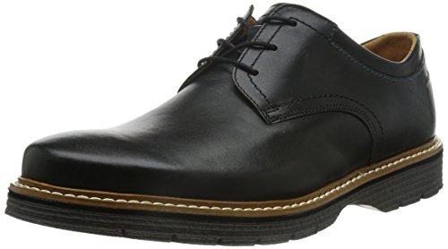 Clarks - Zapatos de cordones para hombre negro