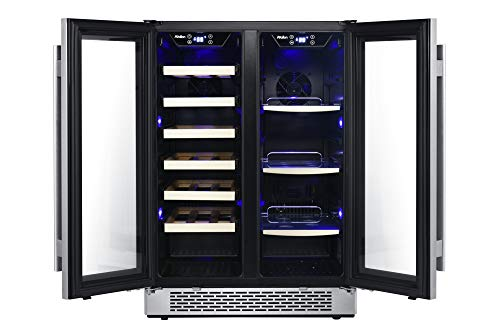 Avallon AWBC241GGFD 24 Inch Wide 21 Bottle and 60 Can Capacity Built-In Wine and Beverage Cooler with French Doors by Avallon (Image #2)