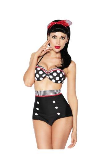 Aussergewöhnlicher Vintage Push-up- Bikini S