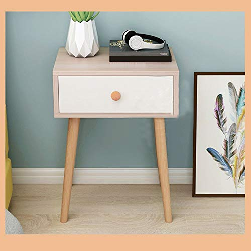 - Eoeth Simple Log Bedroom Storage Cabinet, Bedside Table with Drawer and Storage Shelf, End Table for Bedroom Living Room Home Furniture Solid Wood Legs Storage Single Drawer Cabinet(Shipped by US)