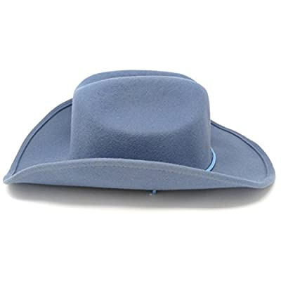 Fashion Helpers Women's Wool Cowboy Hat with Shapeable Brim