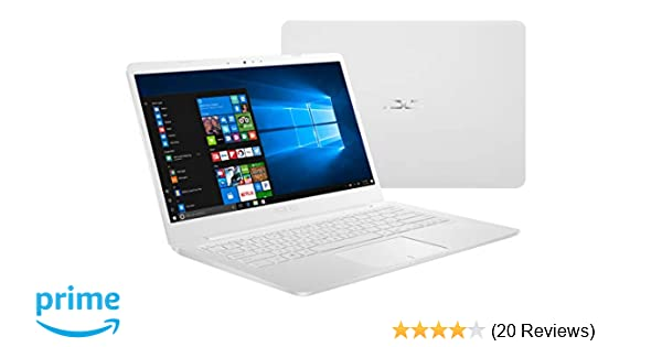 "Asus Laptop L406 Thin and Light Laptop, 14"", Intel Celeron N4000 Processor,  4GB RAM, 64GB eMMC Storage, Wi-Fi 5, Windows 10, White, L406MA-AB02-WH,"