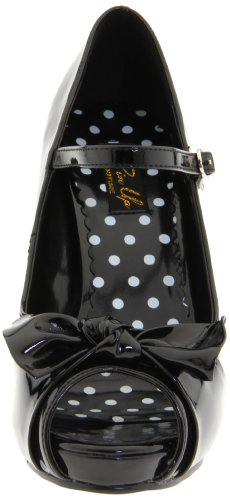 Pin Up Couture CUTIEPIE-08 Blk Pat UK 8 (EU 41) BhD5dj8JcX