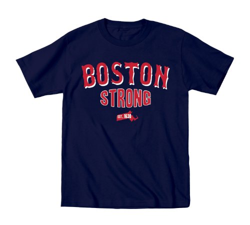 - Boston Strong RED/WHITE - Toddler Shirt - NAVY - 2T