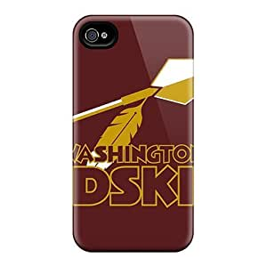 Awesome Redskins Logos Gigantic X Pixels Washington Flip Case With Fashion Design Case For Iphone 4/4S Cover
