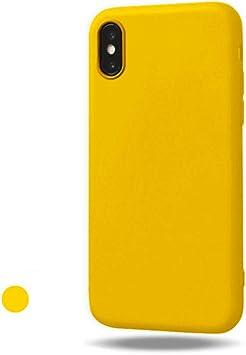 Freessom Coque IPhone 6/6s Silicone Couleur Mat Jaune Simple Souple Soft Originale Antichoc Ultra Mince Fine Leger en TPU Protecteur Case Housse Etui ...