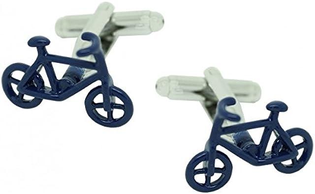 MasGemelos - Gemelos Bicicleta Azul Cufflinks: Amazon.es: Joyería