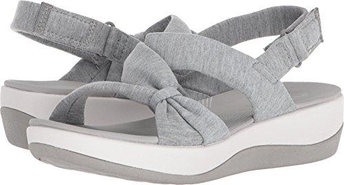 (CLARKS Women's Arla Primrose Sandal, Grey Heathered Fabric, 5 Medium US)
