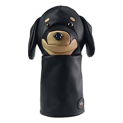 Craftsman Golf Black Dachshund Dog Leather Animal Driver Headcover Head Cover