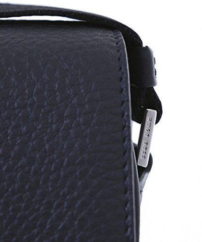 BOSS Hugo Boss Uomo Dei viaggiatori Messenger Bag in pelle Nero Unica Taglia