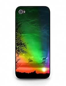 Handmade Hard Iphone 5 5S Snap On With Cute Rainbow Print for Boys