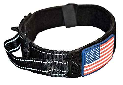 American Pet Tags - DOG COLLAR WITH CONTROL HANDLE QUICK RELEASE METAL BUCKLE HEAVY DUTY MILITARY STYLE 2