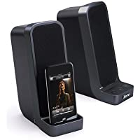 iHome iH69 Computer Stereo Speaker System with Dock for iPod (Black)