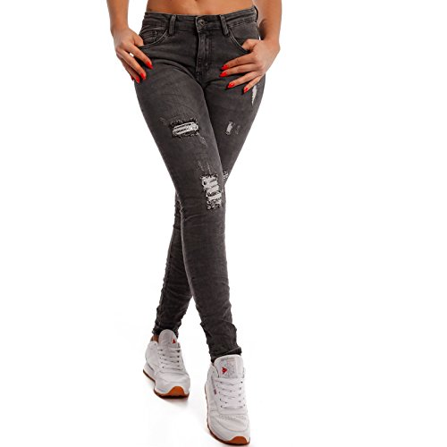 Femme Anthracite Fashion Young Skinny Jeans Uni vCO6nwFq