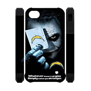 NFL San Diego Chargers With Joker Poker Unique Design For Apple Iphone 5C Case Cover Dual- 3D Polymer Back Case For Christmas Gifts