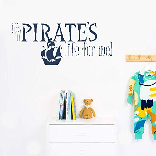 Dearu Vinyl Wall Lettering Stickers Quotes and Saying It's A Pirate's Life for Me!for Nursery Kids Room Playroom]()