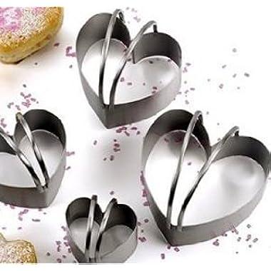 RSVP Endurance Heart Shaped Biscuit Cutter, Set of 4