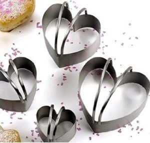 RSVP Endurance Heart Shaped Biscuit Cutter, Set of 4