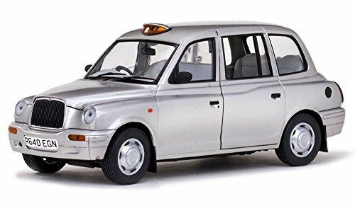 1998 TX1 London Taxi Cab Platinum Silver 1/18 Diecast Model Car by Sunstar 1125