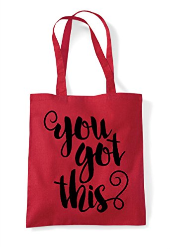 Red Statement Motivational Bag Got This You Shopper Confident Tote wqx4RzHC