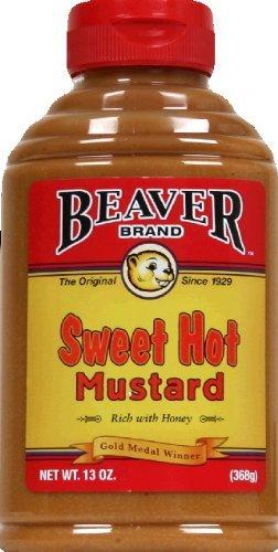 Honey Mustard Brands - Beaver Brand Sweet Hot Mustard, 13 oz Squeezable Bottles, 2 pk
