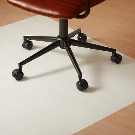 Relaxdays Alfombra para Silla de Oficina, Plástico, Blanco, 90 x 90 cm