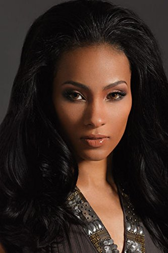 (Velvet Remi Human Hair Weave - Natural Yaki (10 inch, 1 - Jet Black))