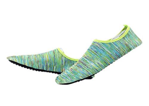 Acqua Scarpe Onda Piscina Spiaggia Nuotare Aqua Calze Yoga Uomo Donna Slip On Per Carattere Verde Santimon