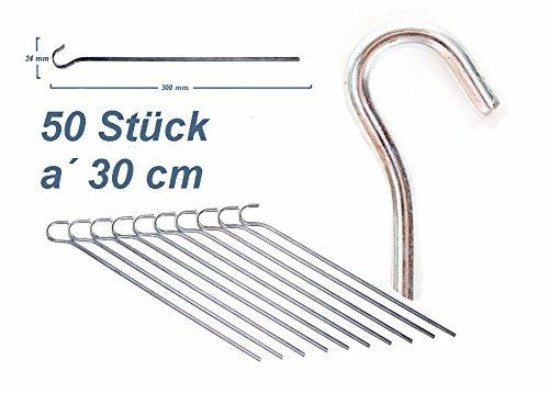 Erdnagel Stahl verzinkt Felsnagel 50 St/ück Outdoor Profi Equipment 30 cm Zeltheringe ZM