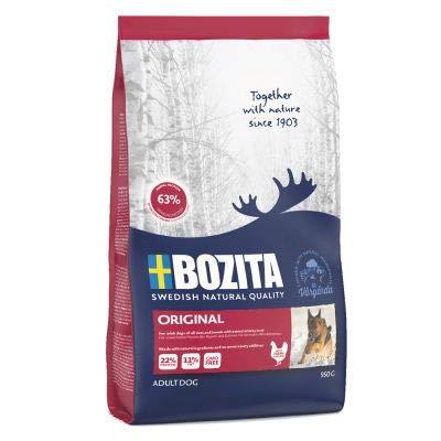 Bozita Original A ausgewogenes, komplettes Trockenfutter für Hunde aus Schweden mit viel frischem Huhn und angereichert…
