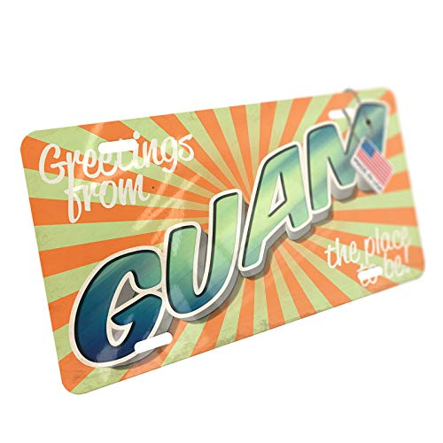 NEONBLOND Greetings from Guam, Vintage Postcard Aluminum License ()