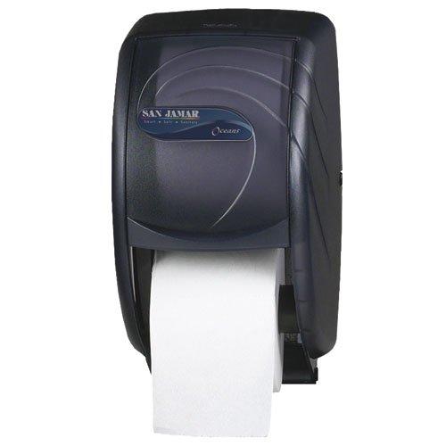 (San Jamar Duett Toilet Tissue Dispenser, 7 1/2 x 7 x 12 3/4, Black Pearl (R3590TBK))