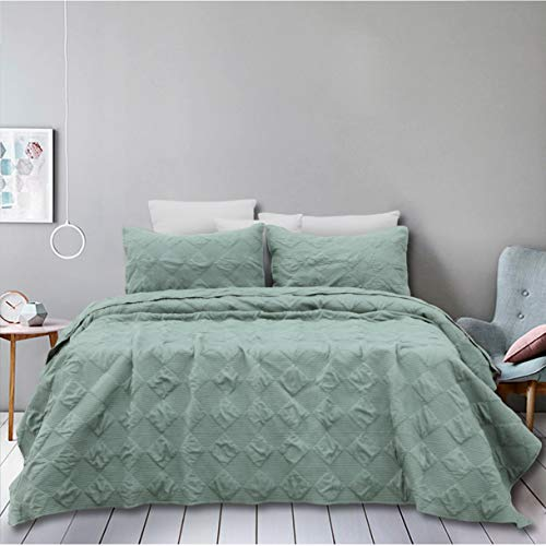 Natural Union Oversized Quilt Set King 3 Piece Bedspread Coverlet Set with Shams Ultra Soft Coverlet Lightweight Hypoallergenic Microfiber Bedding Cover