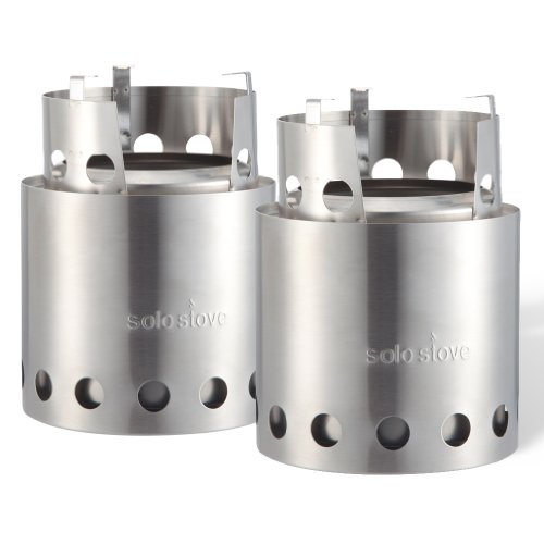 Solo Stove 2 Stove Bulk Pack – Ultralight Wood Burning Stove. Lightweight Kitchen Kit for Backpacking, Camping, Survival. Burns Twigs – No Batteries or Liquid Fuel Gas Canister Required