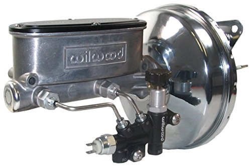 NEW CHROME POWER BRAKE BOOSTER & WILWOOD MASTER CYLINDER SET WITH ADJUSTABLE PROPORTIONING VALVE FOR 1967, 1968, 1969, 1970 FORD MUSTANG, FAIRLANE, FALCON, MERCURY COMET, COUGAR, CYCLONE, MONTEGO