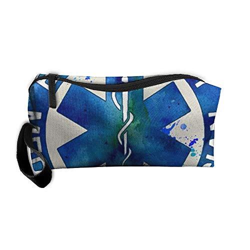 King Fong EMT Firefighter Makeup Bags for Men/Women, Travel Toiletry Bag, Oxford Pencil Case]()