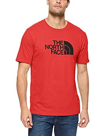 The North Face Men's Short Sleeve Half Dome Tee, TNF Red/TNF Blk, Small
