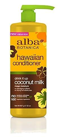Alba Botanica Hawaiian Conditioner, Coconut Milk, 32 Ounce (Organics Coconut Conditioner)