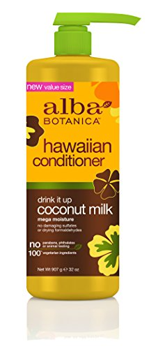(Alba Botanica Drink It Up Coconut Milk Hawaiian Conditioner, 32 oz.)