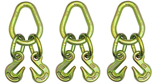 4 Width Pear LK with 2 Grade 70 B//A Products N711-8E Grab Hooks 8 Length 2 Height