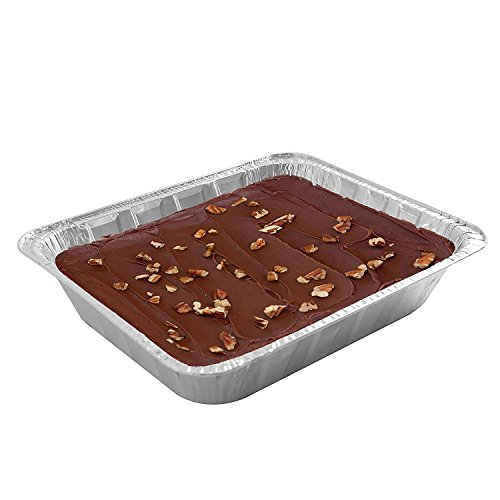 Jetfoil Aluminum Foil Steam Table Pans With Lids   Perfect for Catering, Party Supplies & Suitable for Broiling, Baking, Cakes and Pies - 9 x 13 Half size Deep   Pack of 30 by Jetfoil (Image #1)